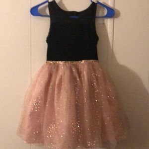 Black and rose gold dress size 8 girl's